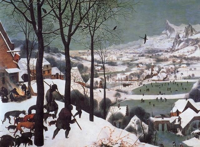 تابلوی «شکارچیان در برف» اثر بروگل : سینما بیشتر نقاشانه است تا شاعرانه